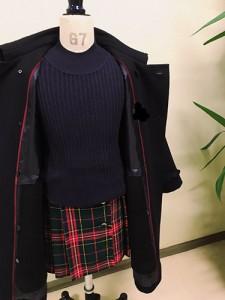 子供服 半コートの内側 コードの色変更可能
